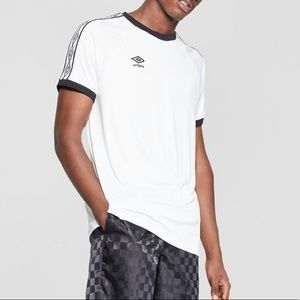 Men's Umbro White/Black Crew Soccer Jersey XXL